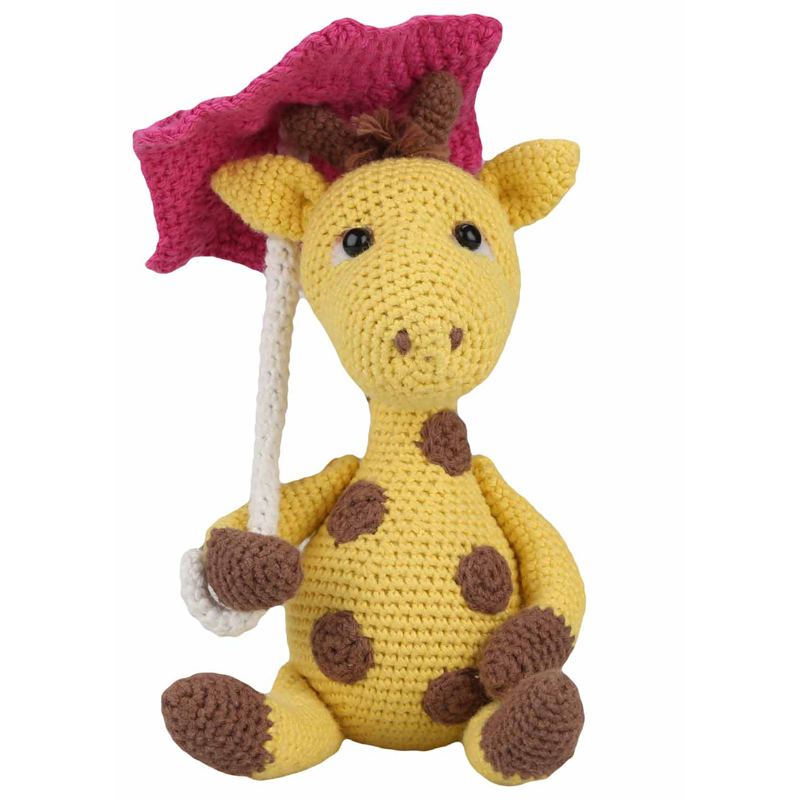Kit Pour Amigurumi : Kit Amigurumi La Girafe Gunilla - Les Ciseaux Magiques
