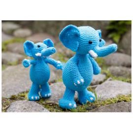Kit de ganchillo Elefantes Sara y Simba