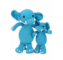 Kit Amigurumi Les Éléphants Sara et Simba