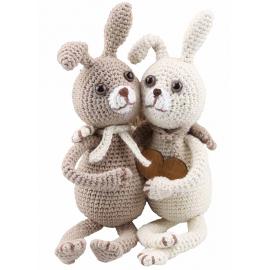 Kit Amigurumi Les Lapins Lilly et Tim
