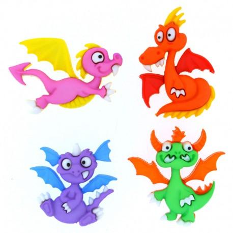 Botones Cuentos de Dragones