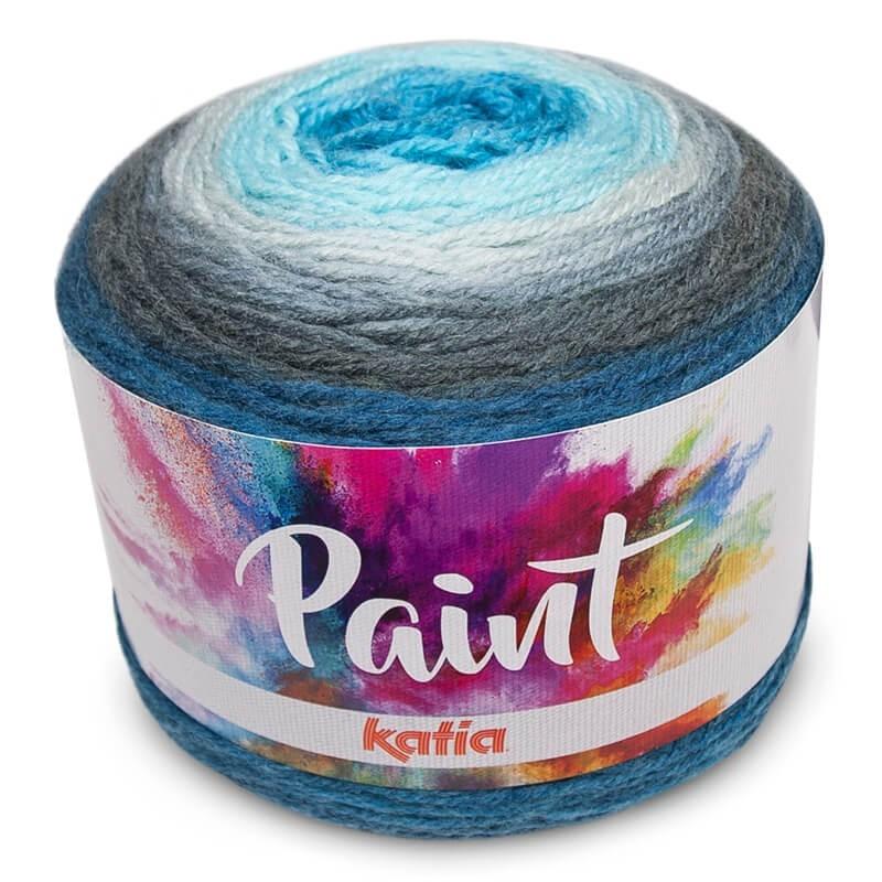 150 g//env Couleur : 62 Katia Paint Bobbel Acrylique avec Long Bec de Couleur 540 m