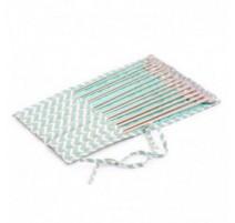 Set d'Aiguilles à Tricot avec étui de tissu - Scribble Chevron