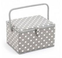 Boîte à Couture - Polka Dot Grey (Grande)