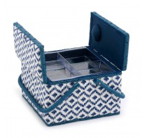 Boîte à couture double couvercle  - Scribble Diamond