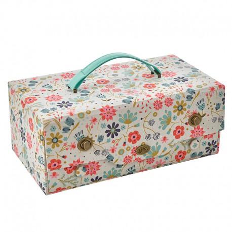 Bo te couture avec tiroir in the garden les ciseaux for Boite a couture avec accessoires