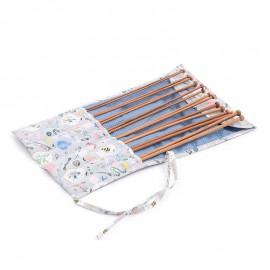 Set d'Aiguilles à Tricot avec étui de tissu - Homemade