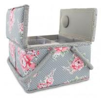Boîte à couture Double Couvercle - Rosas Punteadas