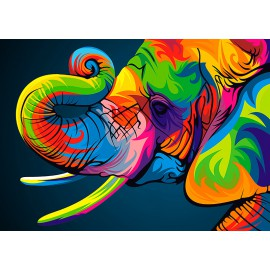 Kit Diamond Painting - Elefante Arco iris - Collection d Art