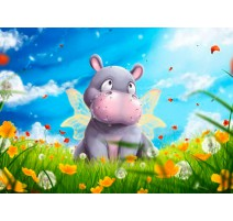 Kit Diamond Painting - Hippo - Collection d Art