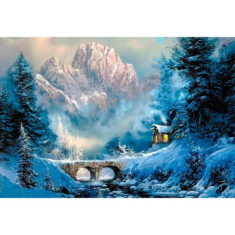 Kit Diamond Painting - Al pie de la montana - Collection d Art