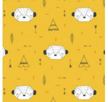 Tissu Katia Origami Suricatta