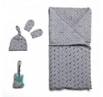 Patron Katia - Ensemble sac de couchage, bonnet et moufles anti-griffures