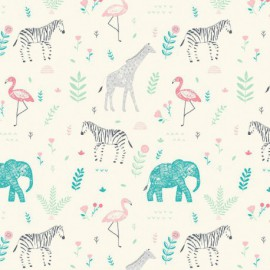 Tissu Katia Savanna Animals