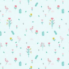 Tissu Katia Savanna Mint Flowers