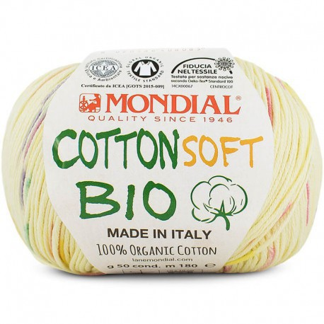Mondial Cotton Soft Bio Stampe