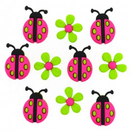 Boutons Ladybug Crossing - Dress It Up