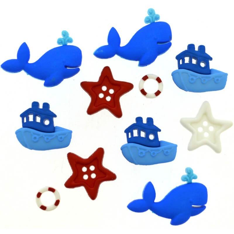 Botones Ahoy Baby - Dress It Up