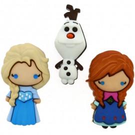 Boutons Frozen Elsa, Anna & Frozen - Dress It Up