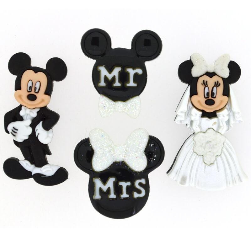 Botones Mickey and Minnie Wedding - Dress It Up