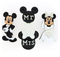 Boutons Mickey and Minnie Wedding - Dress It Up