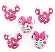 Boutons Minnie Rhinestone Heads -Dress It Up