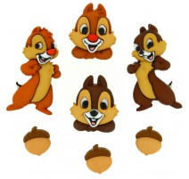 Boutons Chip and Dale - Dress It Up