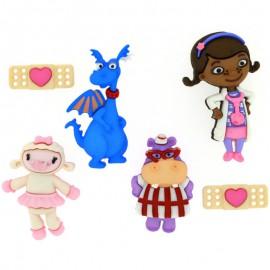 Boutons Doc Mcstuffins - Dress It Up