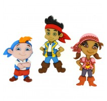 Boutons Jake and the Neverland Pirates - Dress It Up