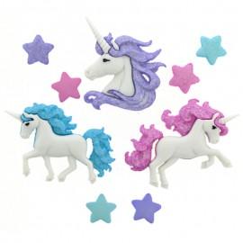 Boutons Magical Unicorns - Dress It Up