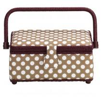 Boîte à couture petite Polka Dots Beige - Prym