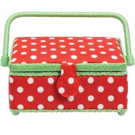 Costurero Pequeno Polka Dots Rojo y Blanco - Prym