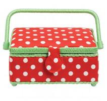 Boîte à couture petite Polka Dots Rouge et Blanche - Prym