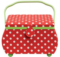 Boîte à couture grande Polka Dots Rouge et Blanche - Prym