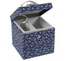 Boîte à Couture Carrée DMC - Fleurs Bleues
