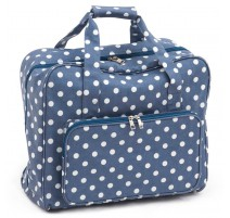 Sac pour machine à coudre – Denim Polka Dot