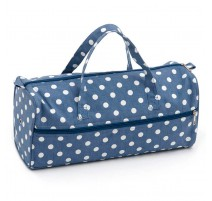 Sac à Tricot - Denim Polka Dot