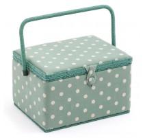 Boîte à couture grande - Moss Polka Dot