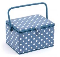 Boîte à couture - Denim Polka Dot
