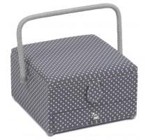 Boîte à Couture avec des Tiroirs - Mini Grey Spot