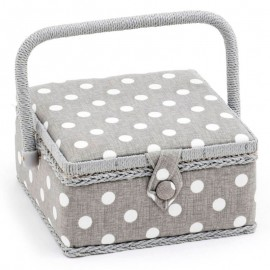Costurero pequeno - Grey Linen Polka