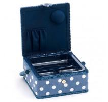 boîte à couture petite – Denim Polka Dot