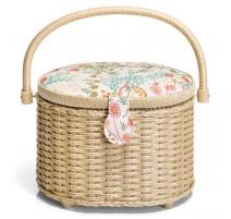 Boîte à Couture ovale - Collection Meadow de Prym