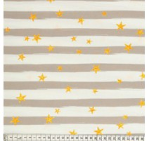 Tissu de coton MezFabrics - Beach Days Stripes Taupe