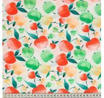 Tissu de coton MezFabrics - Tutti Frutti Apple Bright