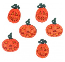 Boutons Glitter Pumpkins - Dress It Up