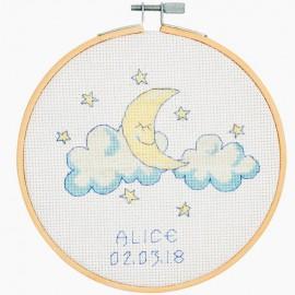 Kit de Punto de Cruz - Baby Moon - DMC