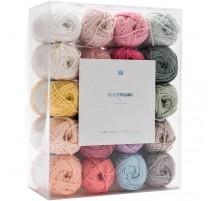 Pack de 20 pelotes aux couleurs pastel - Rico Design