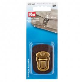Cierre pasador metálico para coser marrón - Prym