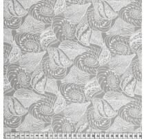 Tissu de coton MezFabrics - Beach Days Shells Taupe
